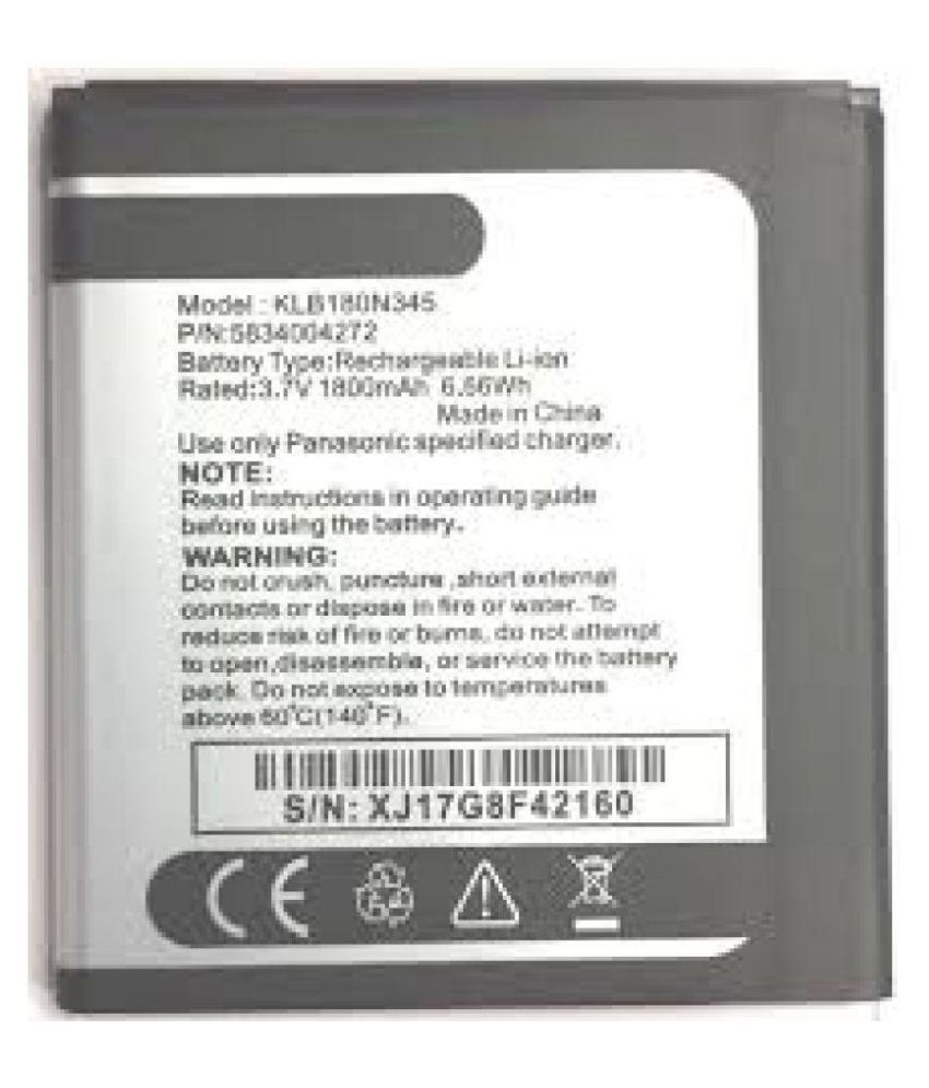 Panasonic T45 4G 1800 mAh Battery by 0riginal - Batteries