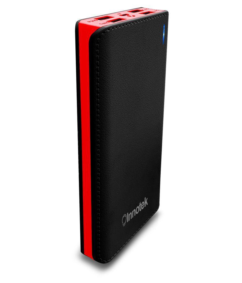 power bank 30000 mah  innotek IK 36 30000 -mAh Li-Ion Power Bank Black & Red - Power Banks ...