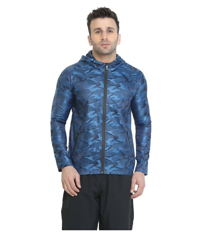 CHKOKKO Wind Cheater Lightweight Hooded Sports Camouflage Winter Jacket For Men