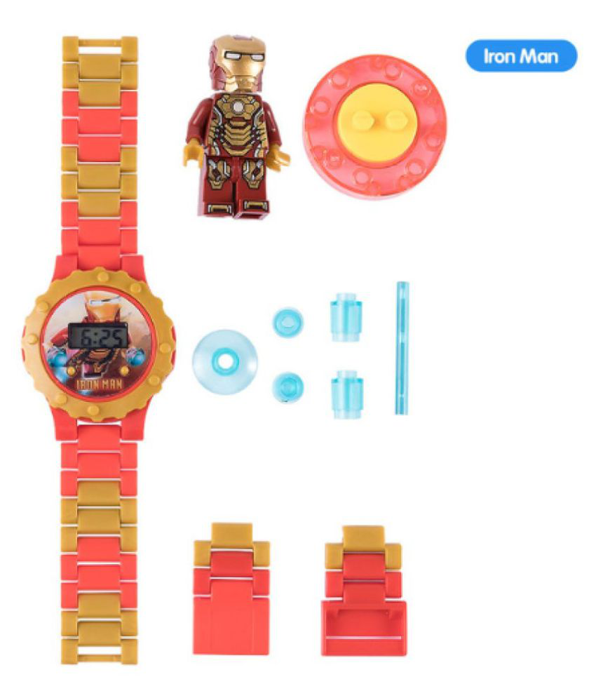 IronMan Watch Building blocks Ninjagoed Marveling Avengers Figures Bricks Toys Compatible with Legoed Minecrafted Block Watch