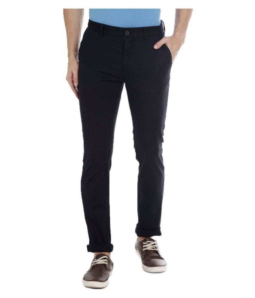 BAR HARBOUR Black Slim -Fit Flat Trousers