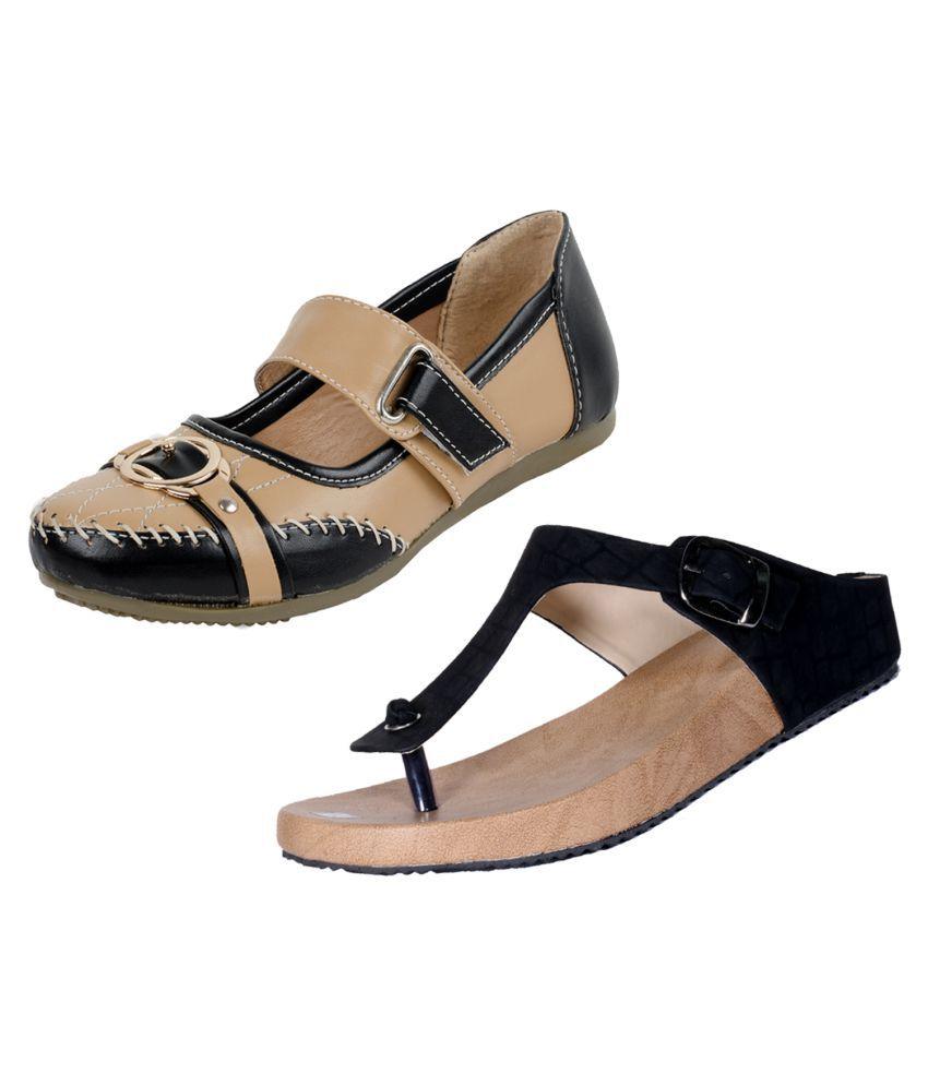 IndiWeaves Beige Wedges Heels