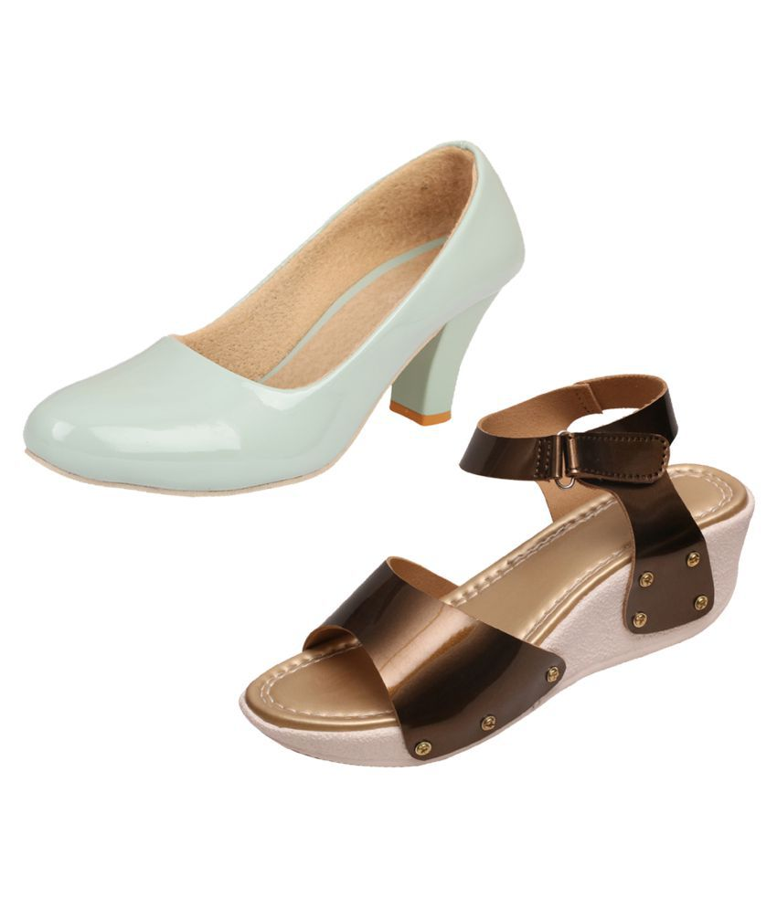 KAYU Green Wedges Heels