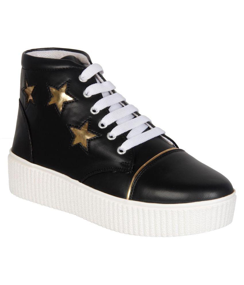 Columbus Black Casual Shoes