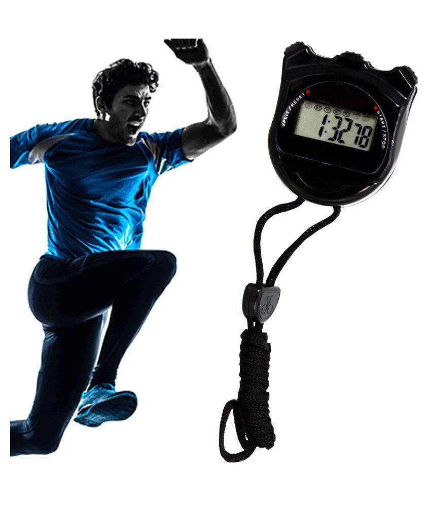 Jm Plastic Black Stopwatch One Size