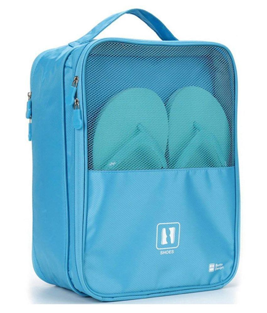 Everbuy Blue Water Proof Shoe Storage Travel Tote Bag