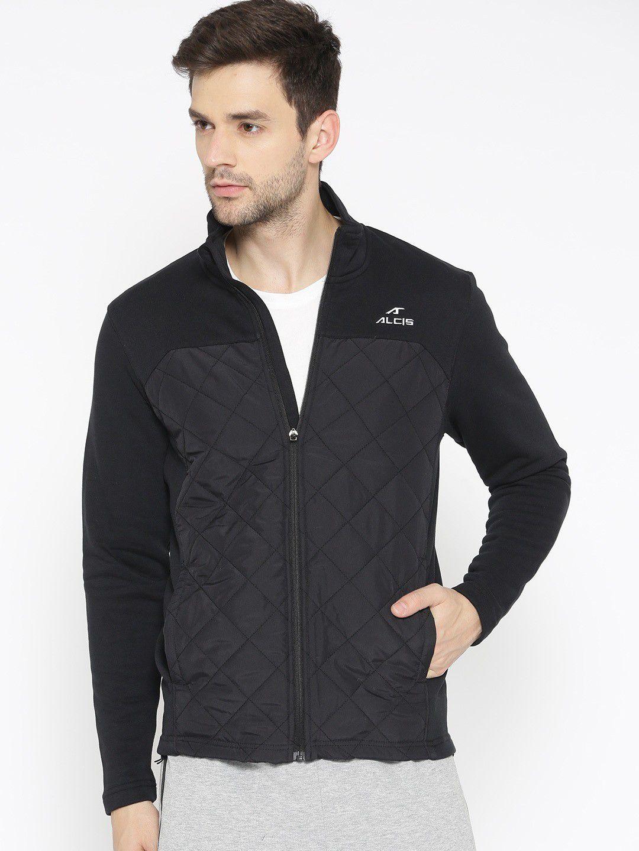Alcis Black Cotton Polyester Fleece Jacket Single Pack