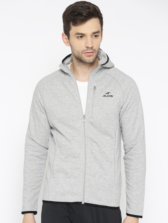 Alcis Grey Cotton Polyester Fleece Sweatshirt Single Pack