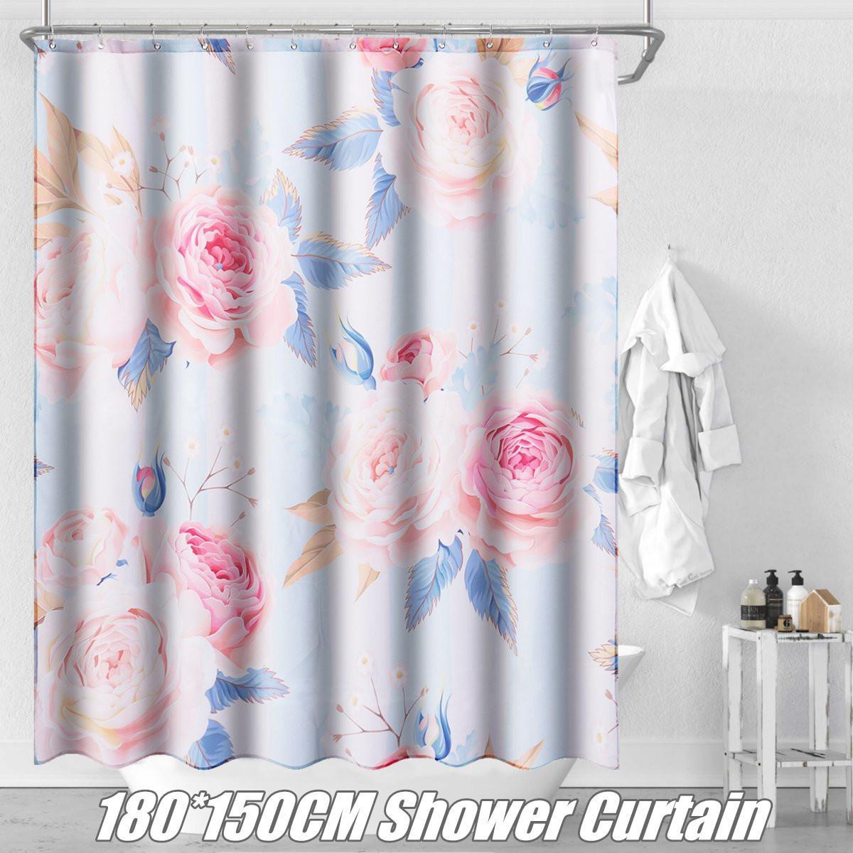 Buy 1 8x1 5m Waterproof Fabric Shower Curtain Bathroom