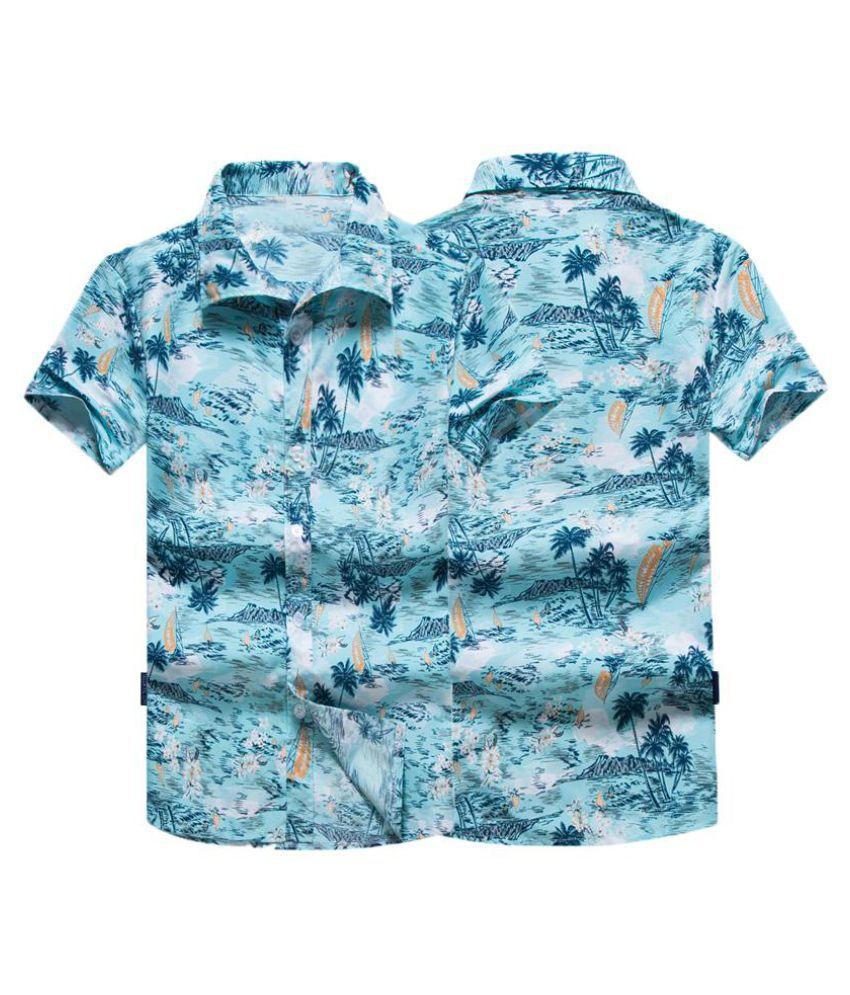 Hot Summer Men Short Sleeve Shirt Floral Beach Lapel Neck Tee Top T-shirts