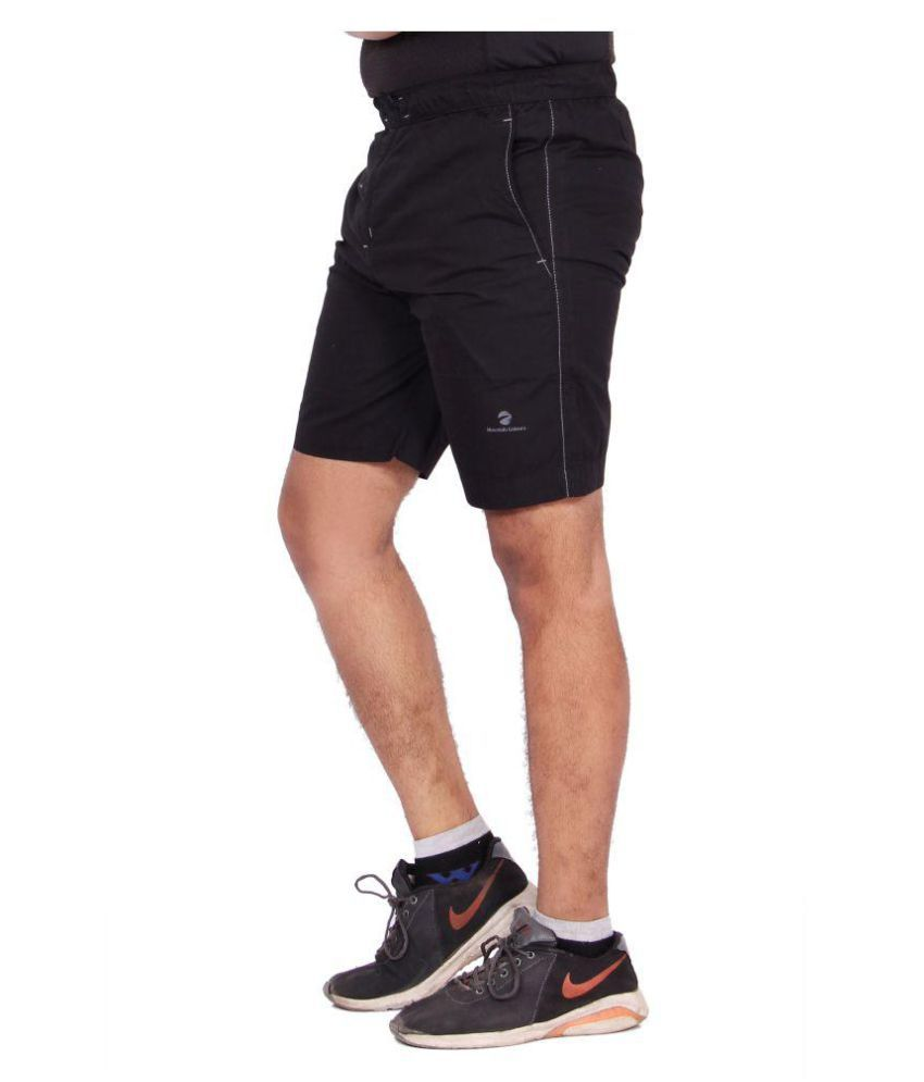 Kuber Industries Cotton Bermuda shorts for men (Black)
