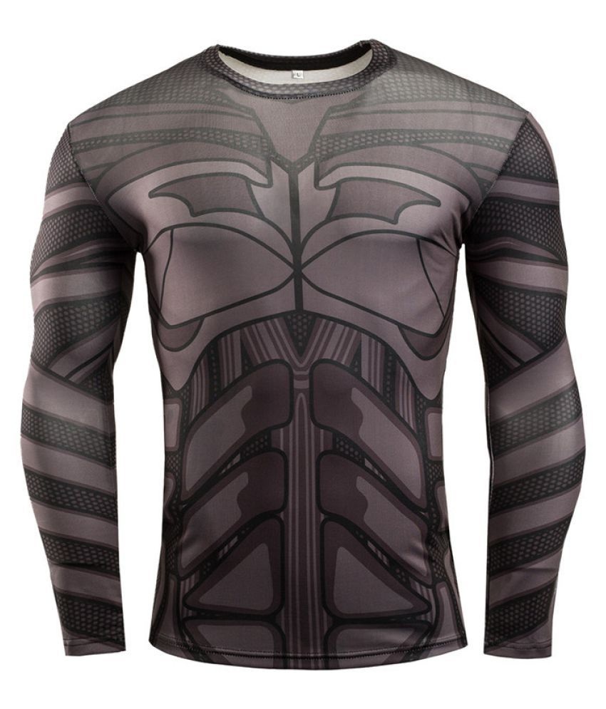 Men's Sports Fitness Long Sleeve T-Shirt Avengers Sportswear