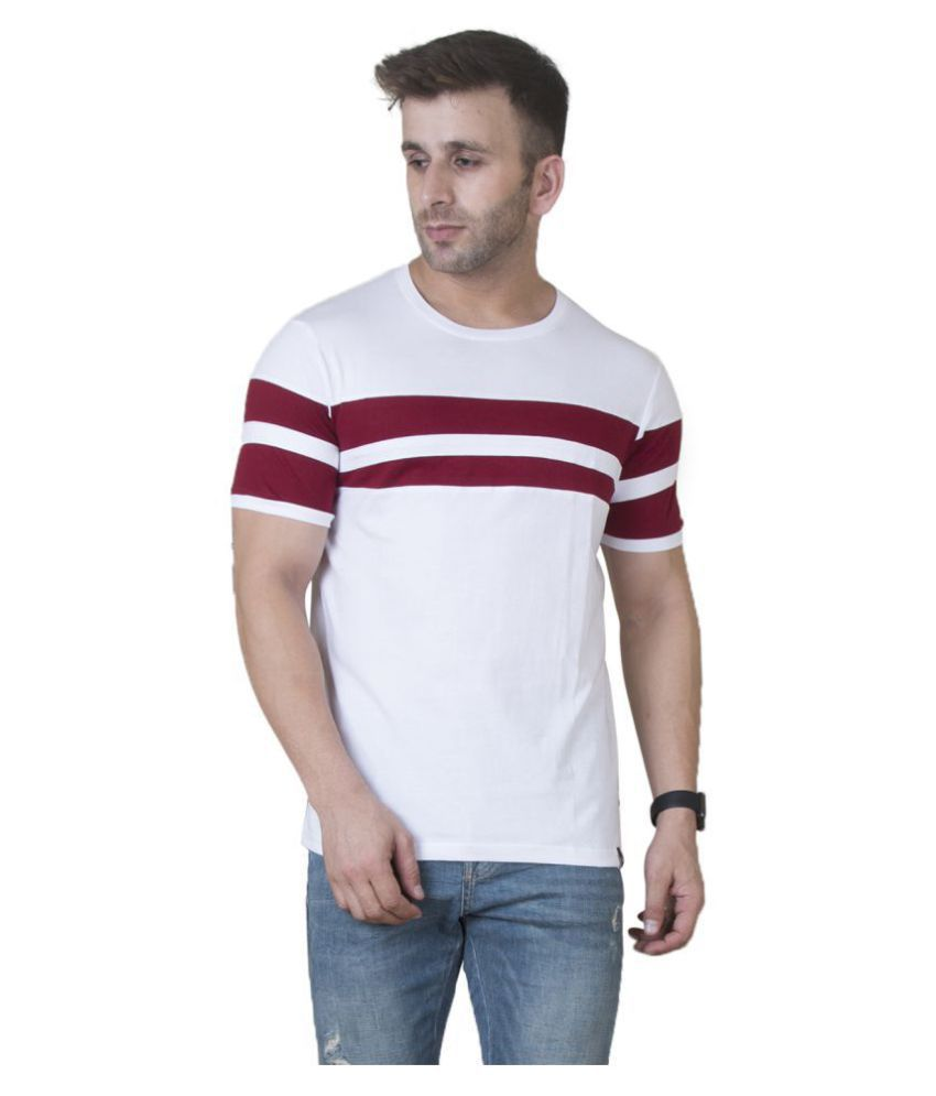 54eb7aafebe Veirdo White Half Sleeve T-Shirt Pack of 1 - Buy Veirdo White Half Sleeve T- Shirt Pack of 1 Online at Low Price - Snapdeal.com