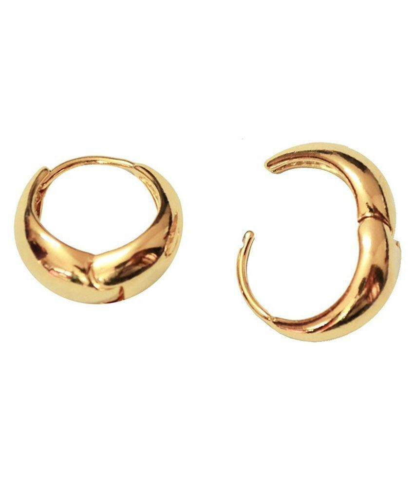 883442e4d ... Kaju Gold Plated Alloy Bali Hoop Earrings for Men - Buy Chooz Designer  Studio Kaju Gold Plated Alloy Bali Hoop Earrings for Men Online at Best  Prices in ...