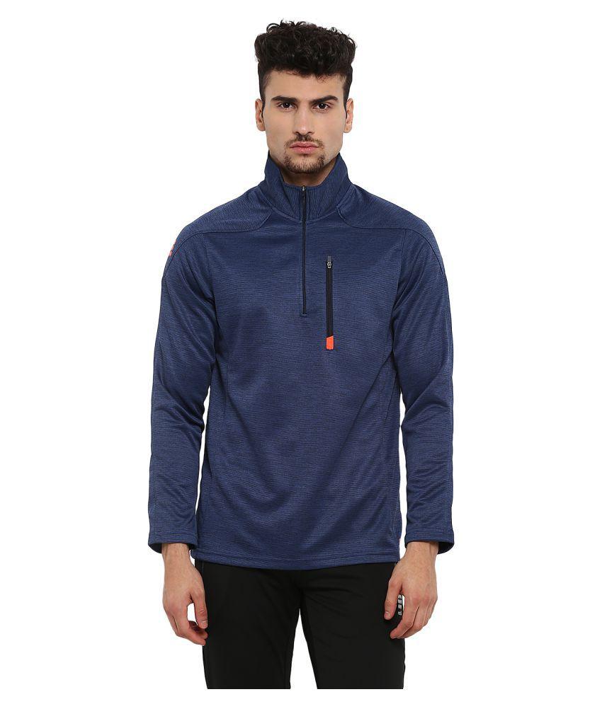 Rock.it Mens Blue Printed Polo Collar SWIFT DRI Sweatshirts