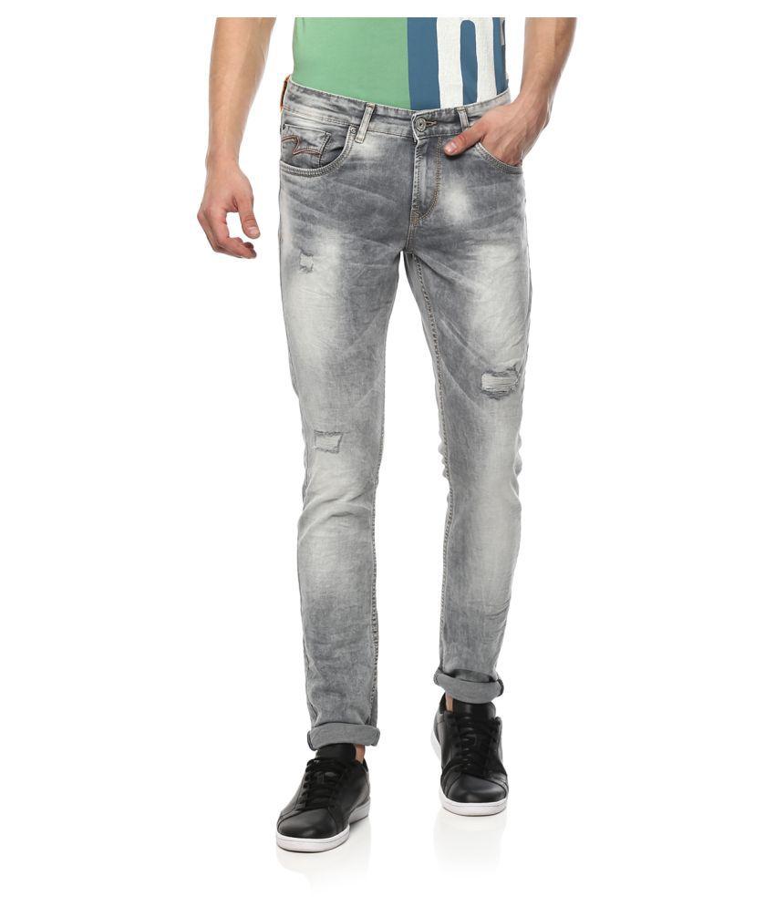 Spykar Grey Skinny Jeans