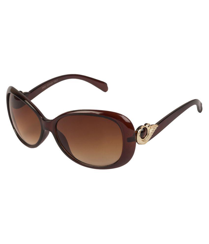 LOF Brown Oversized Sunglasses ( LS-6002 )