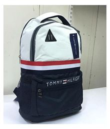 Quick View. Tommy Hilfiger White Polyester College Bags Backpacks 3ffc58b0afccd