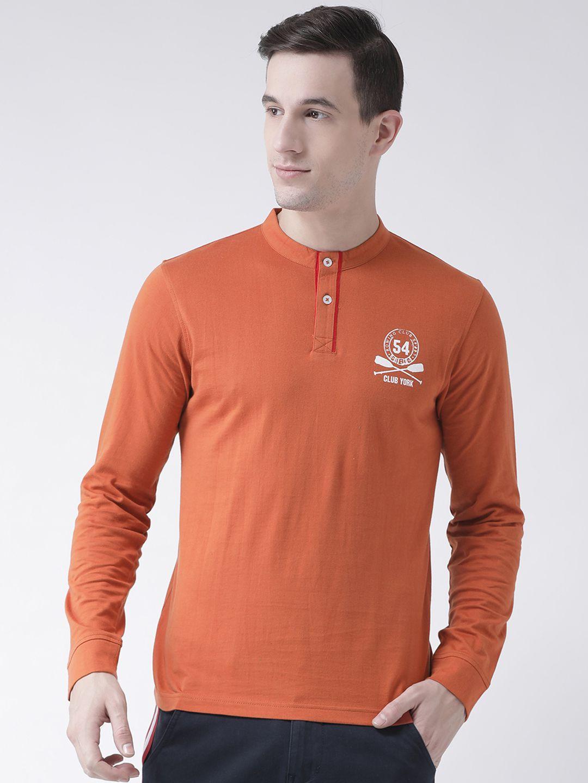 Club York Orange Full Sleeve T-Shirt Pack of 1