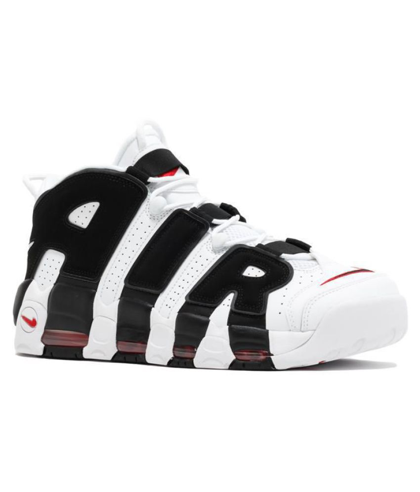 official photos eb90a 380a9 Nike AIR MORE UPTEMPO BLACK RED White Basketball Shoes - Buy Nike AIR MORE  UPTEMPO BLACK RED White Basketball Shoes Online at Best Prices in India on  ...