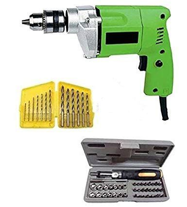 Shopper 10mm Drill Machine With 13 Drill Bits 41 Pcs Including