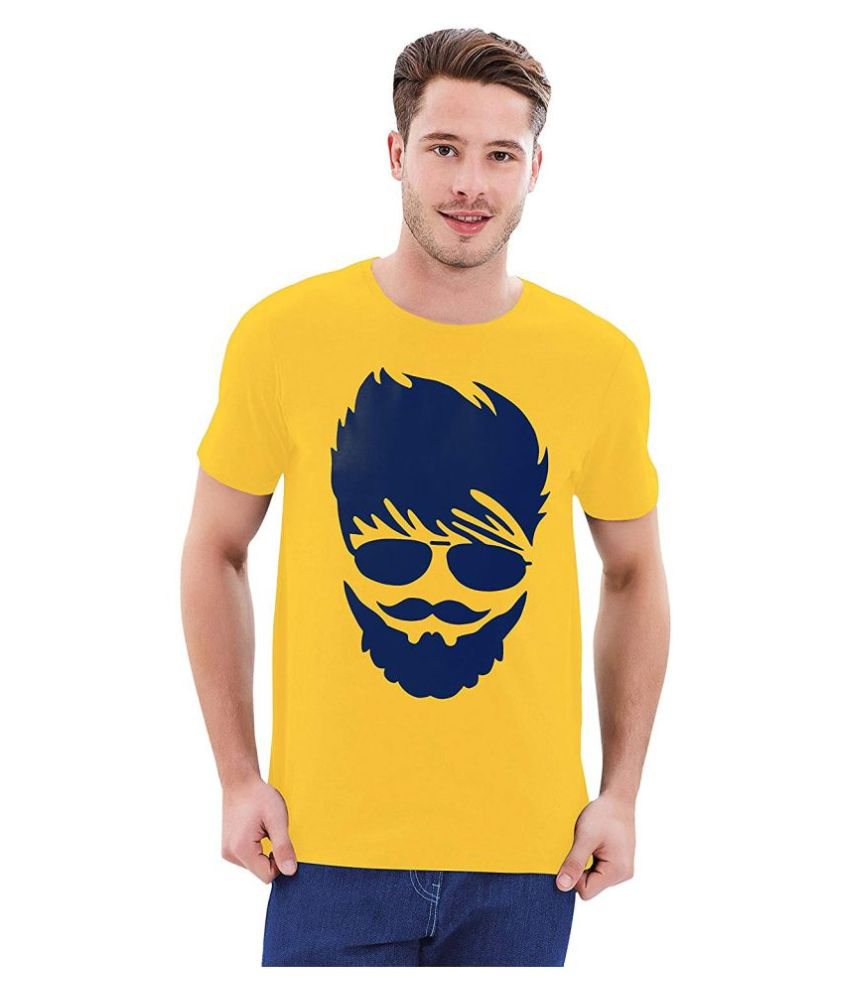 Parallel Times Yellow Cotton T-Shirt
