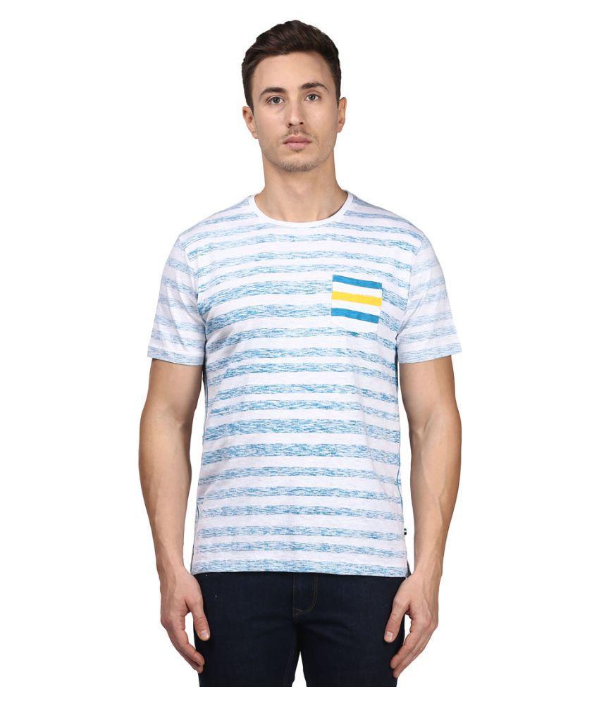 Park Avenue Blue Half Sleeve T-Shirt
