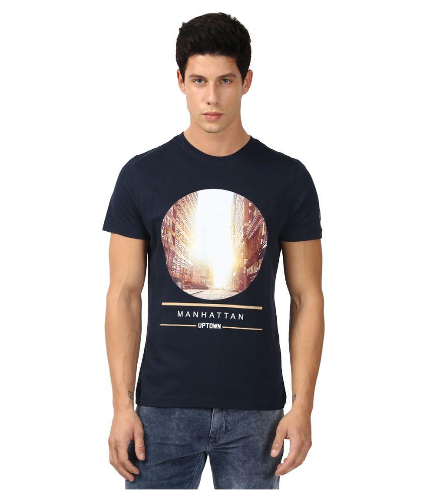 Parx Blue Half Sleeve T-Shirt