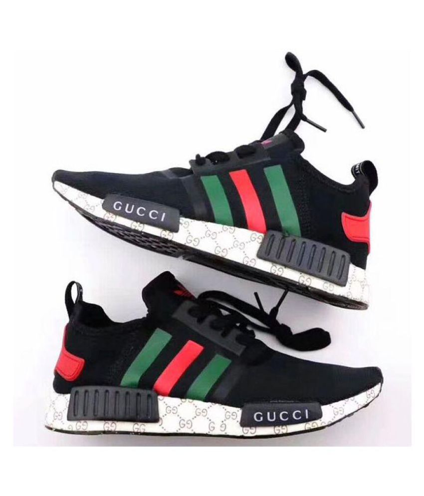 huge selection of 2afea fe13b Adidas NMD Gucci Black Running Shoes Black