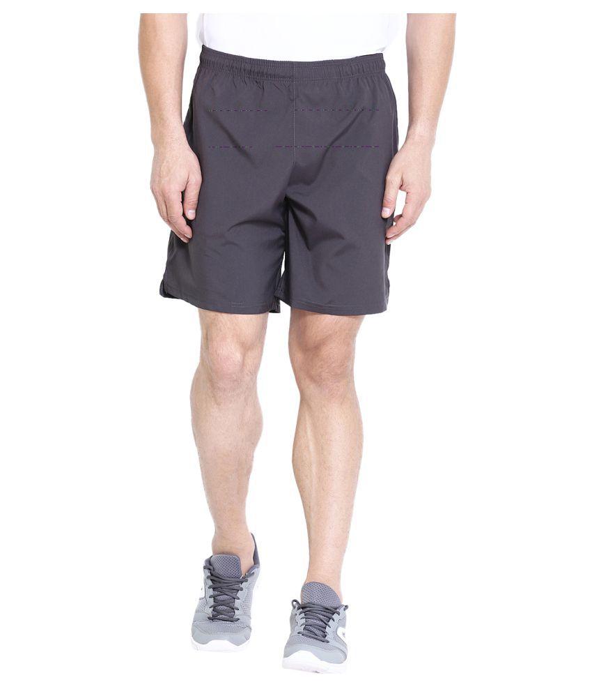 CHKOKKO Men's Running Gym Workout Regular Shorts for Men Dark Grey Size XL