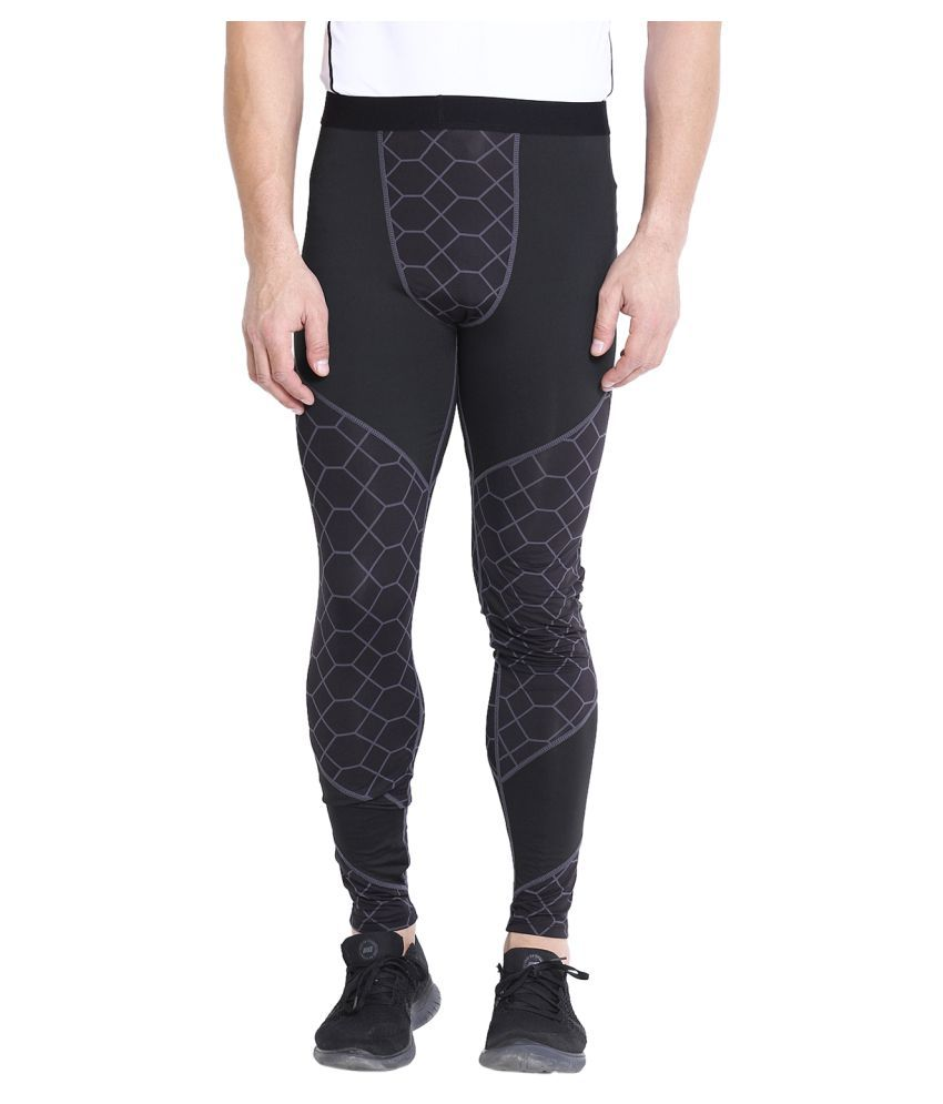 CHKOKKO Premium Quality Sports Compression Running Leggings Gym Elastic Tight Pants for Men