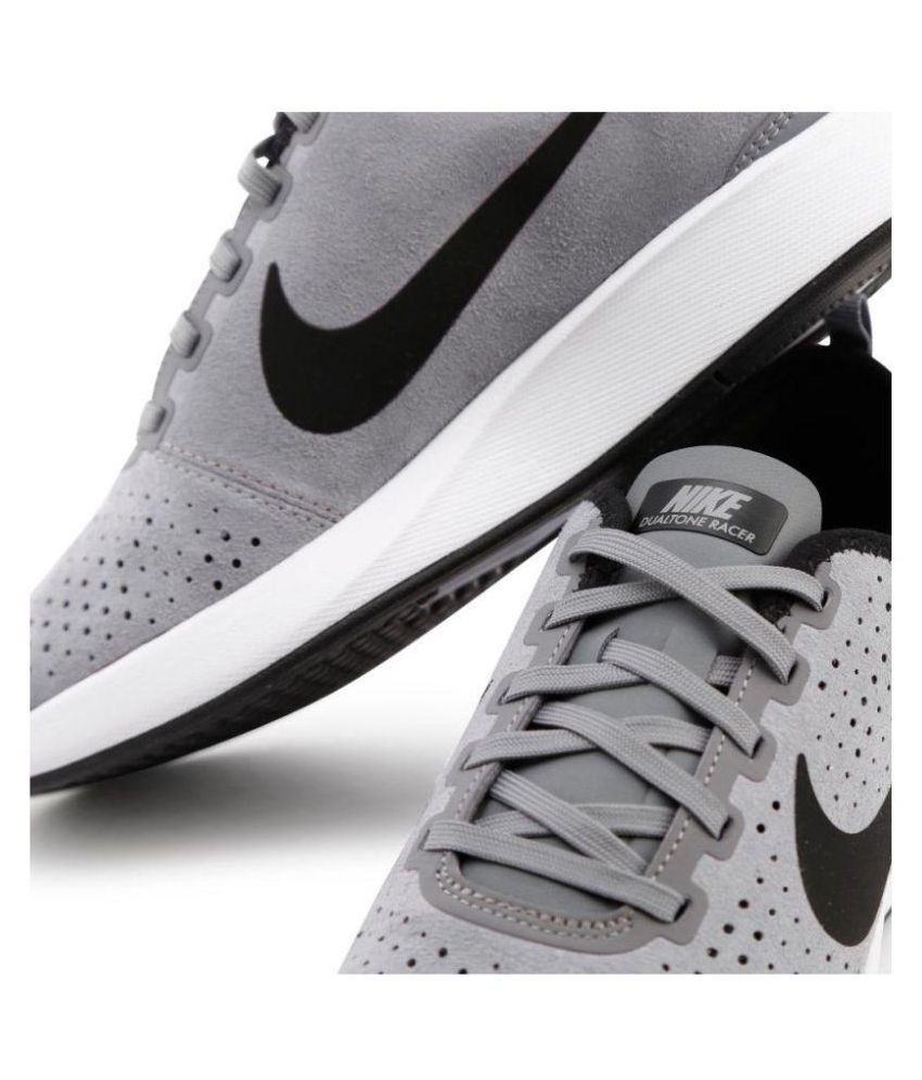 size 40 cd8c5 3dfe8 Nike Dualtone Racer Gray Tennis Shoes - Buy Nike Dualtone Racer Gray Tennis  Shoes Online at Best Prices in India on Snapdeal