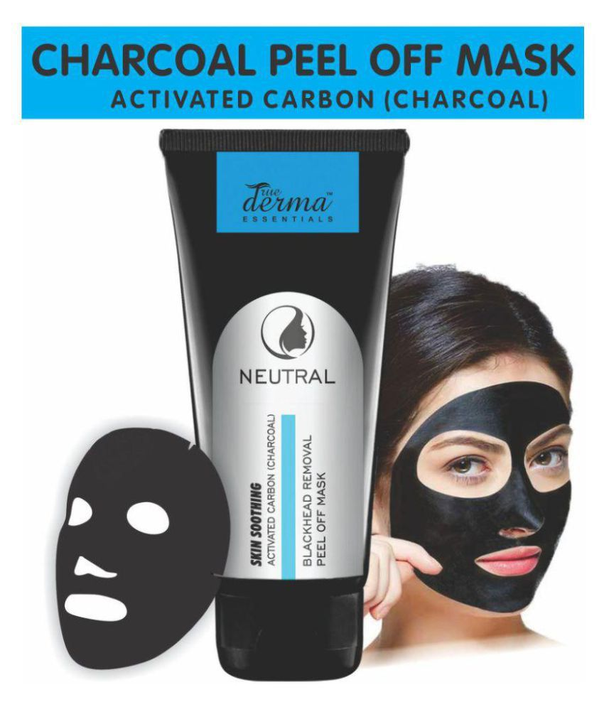 True Derma Activated Carbon (Charcoal) Blackhead Removal Peel Off Face Mask  100 gm
