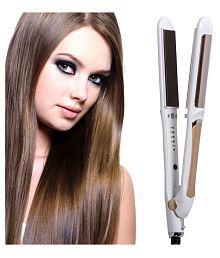 Jm Temperature Control Travel Professional Hair Straighteners Flat Iron 45W Hair Straightener ( White )