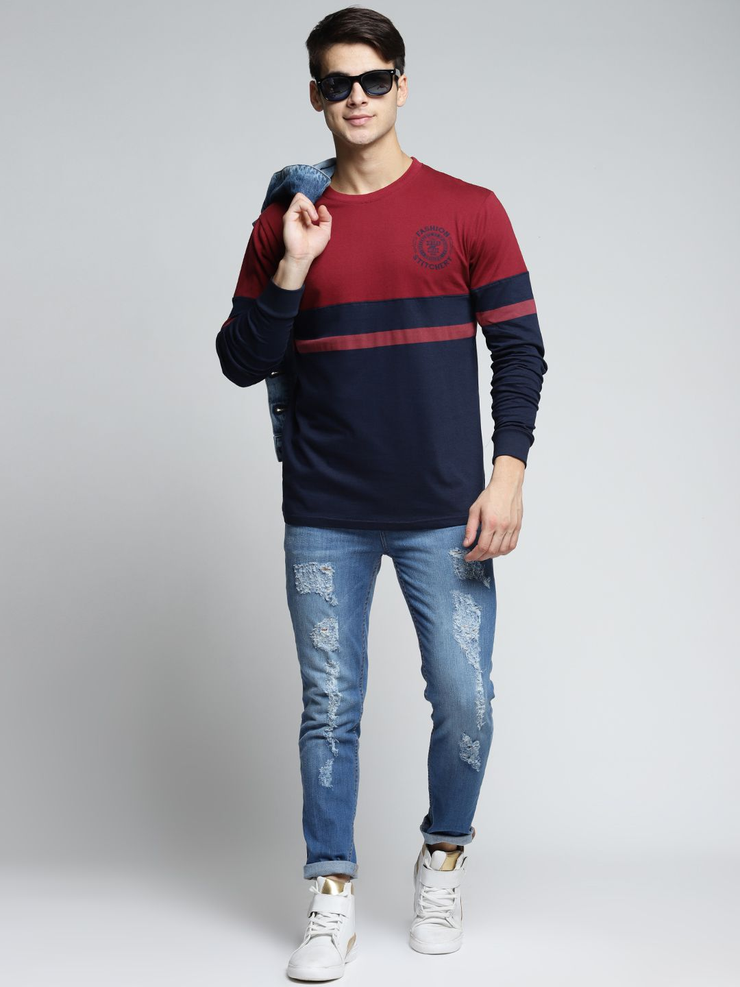 Difference of Opinion Maroon Full Sleeve T-Shirt