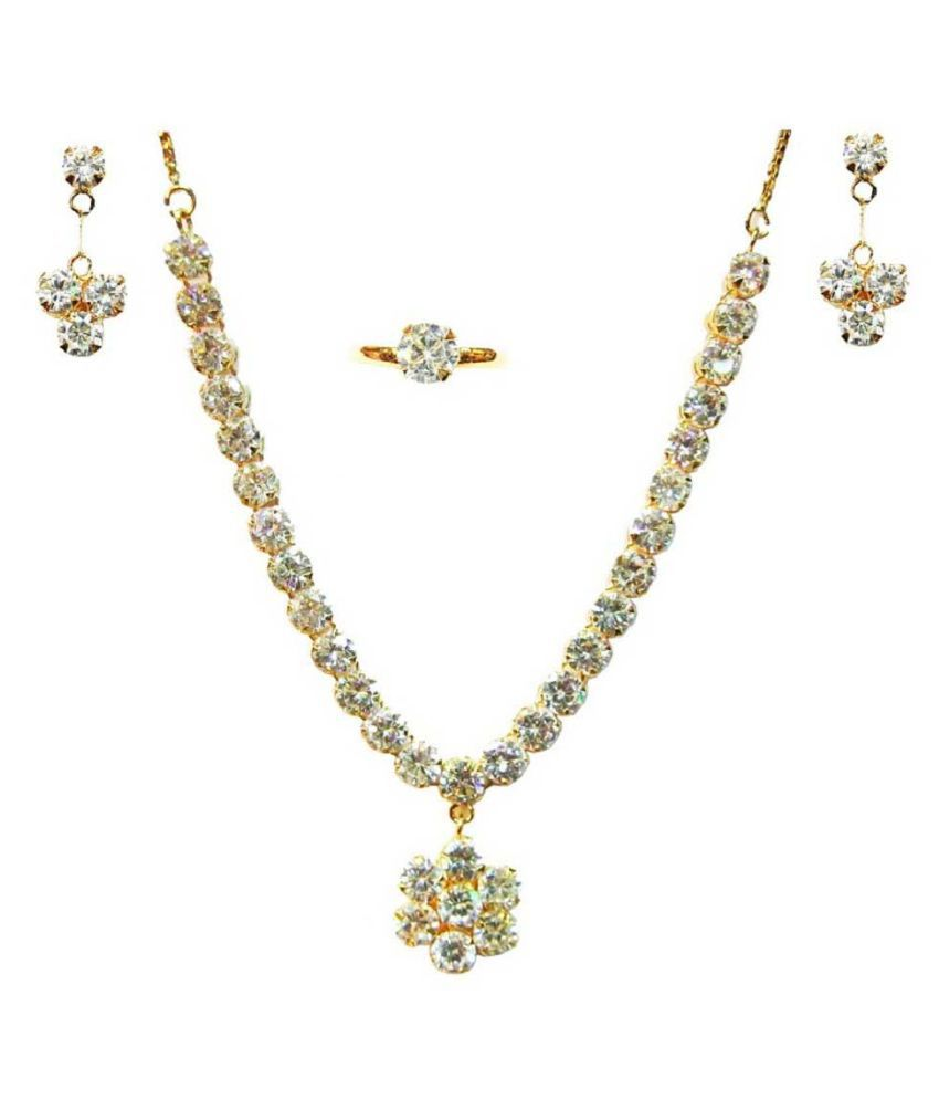 Vinayak Alloy White Princess Contemporary/Fashion 18kt Gold Plated