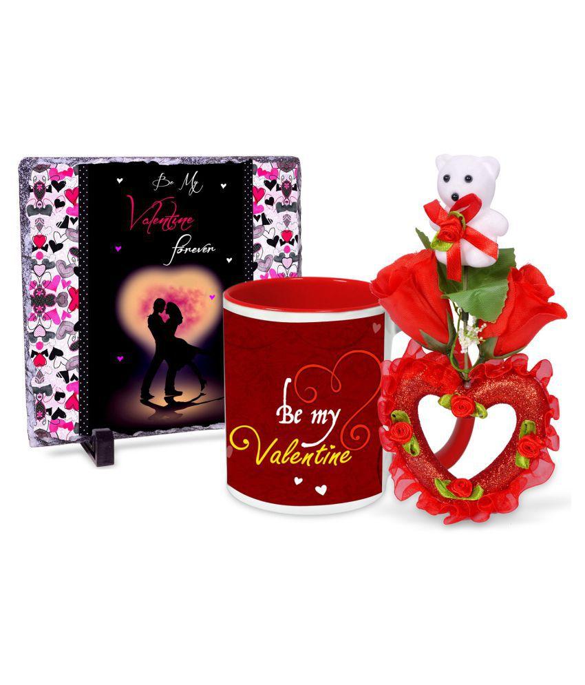 AlwaysGift Ceramic Valentine Hamper Multicolour - Pack of 3