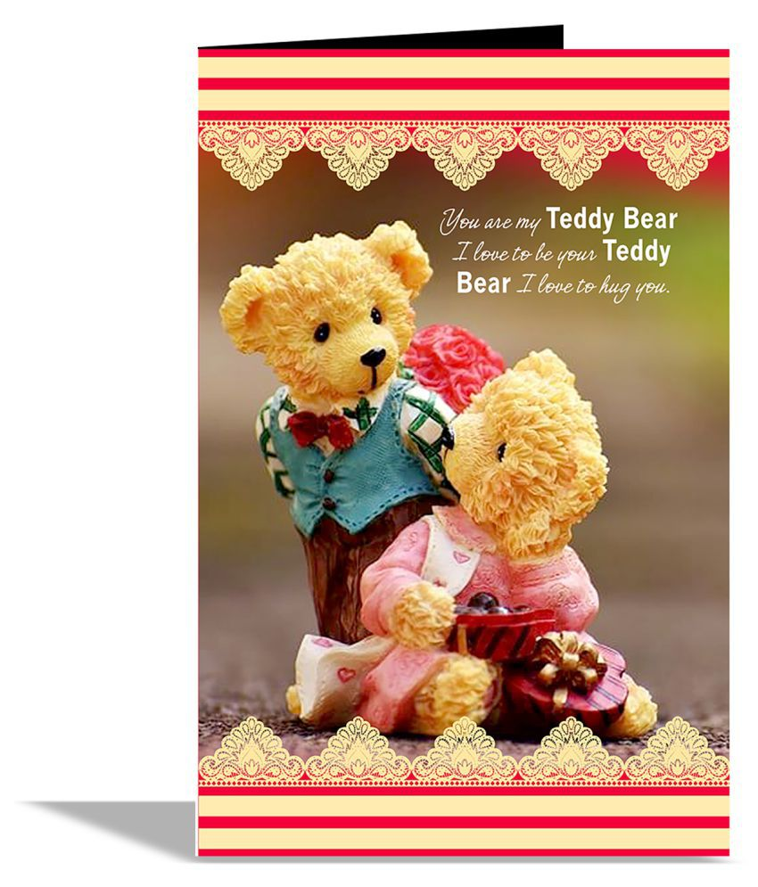 4ddb03dda7 You Are My Teddy Bear Valentines Day Greeting Card with 1 Rose & Red teddy: Buy  Online at Best Price in India - Snapdeal