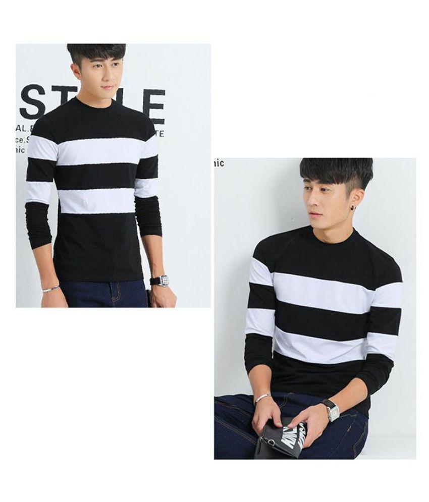 Fashion Men's O Neck Long Sleeve Casual T Shirts Mens Slim T-Shirt Tops Men