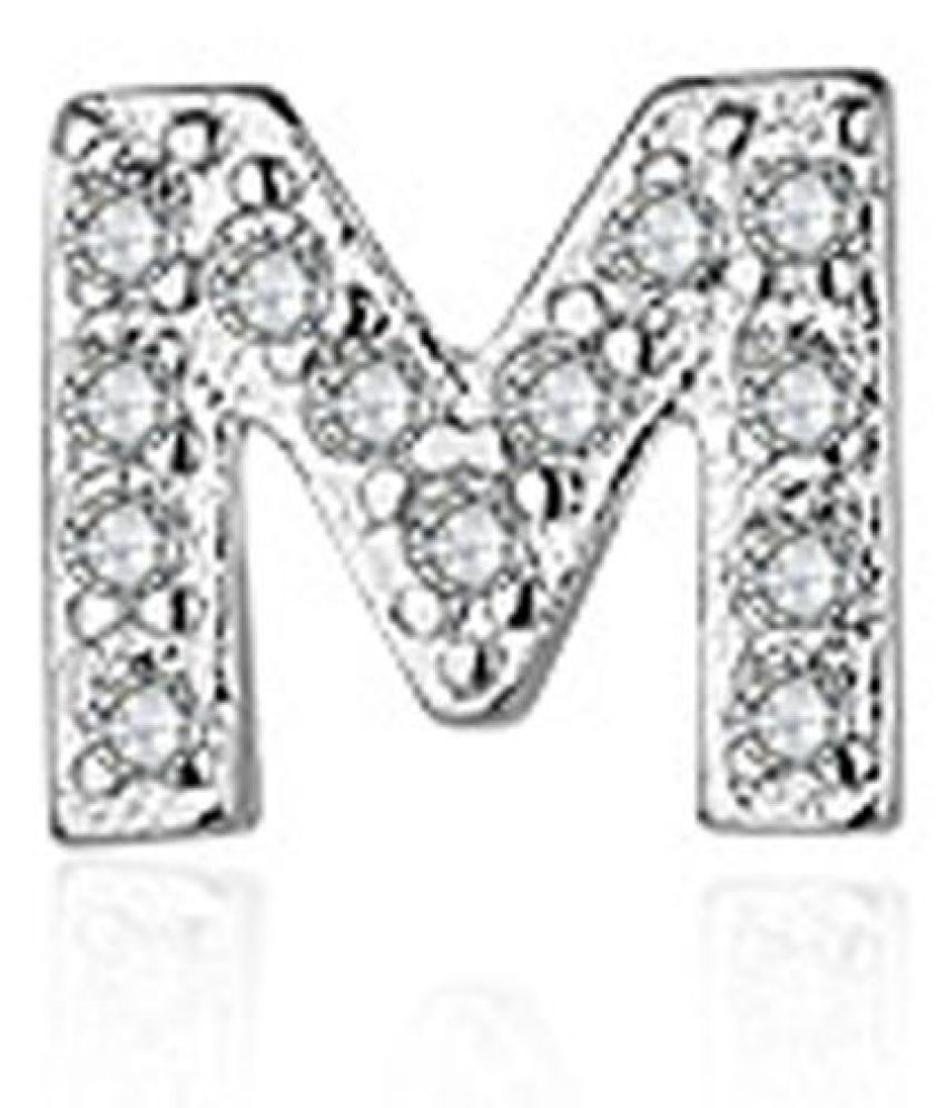 Fashion Women Rhinestone Letters Nightclub Earring Sparkling Ear Stud Earrings