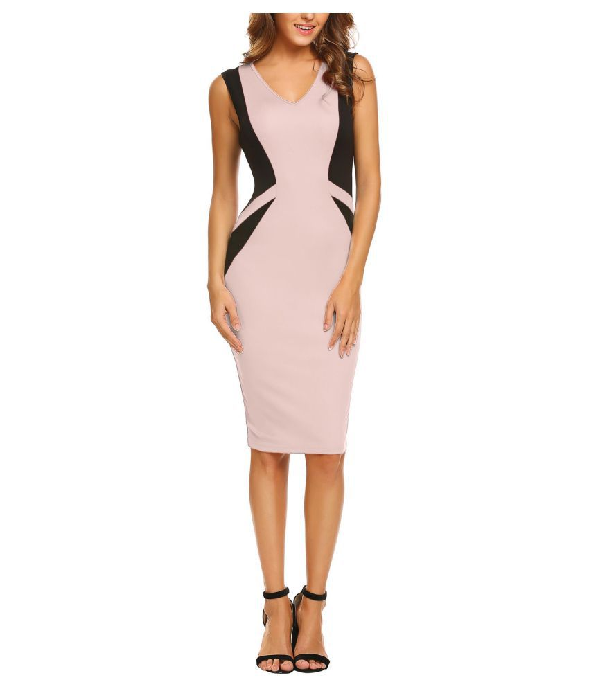 Women Casual V-Neck Sleeveless  Package Hip  Sexy Dress