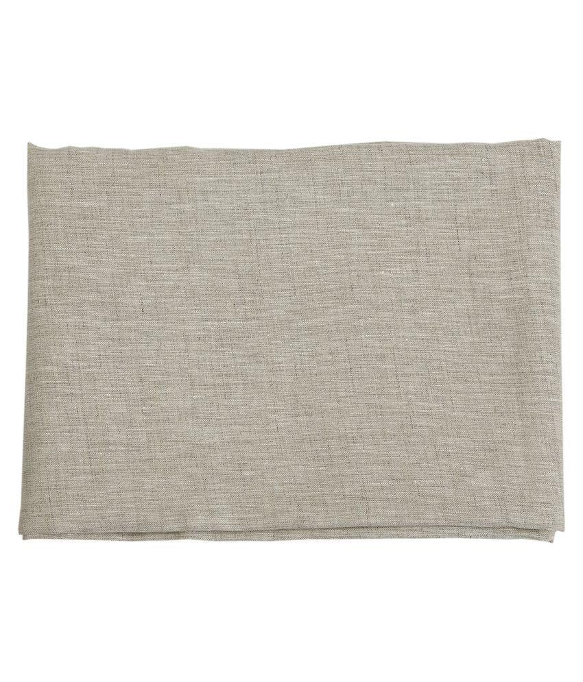 VarianceVesture Brown Linen Unstitched Shirt pc