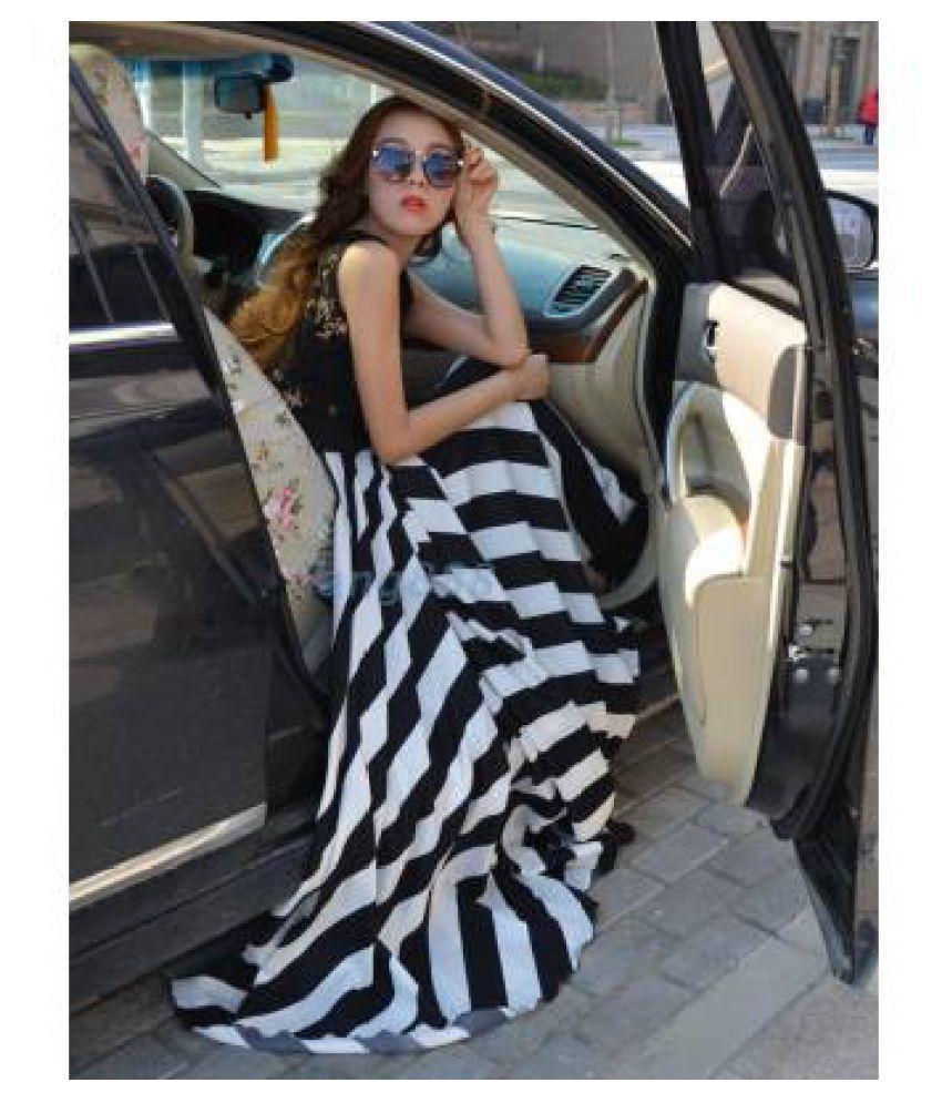 jivanis Chiffon Black Regular Dress