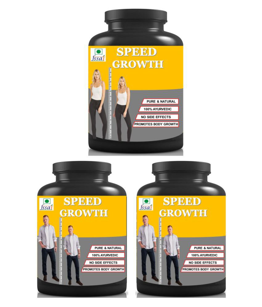 Hindustan Ayurveda Speed Growth Herbal For Height Growth Capsule 90 no.s Pack of 3