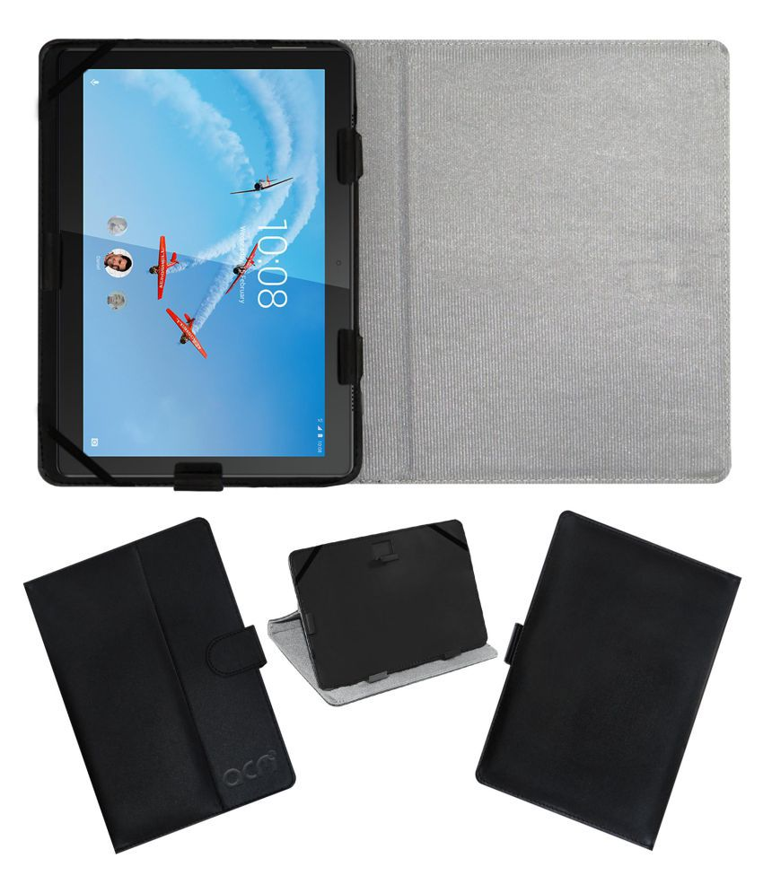 lenovo tab m10 x605l flip cover by acm black cases covers online rh snapdeal com
