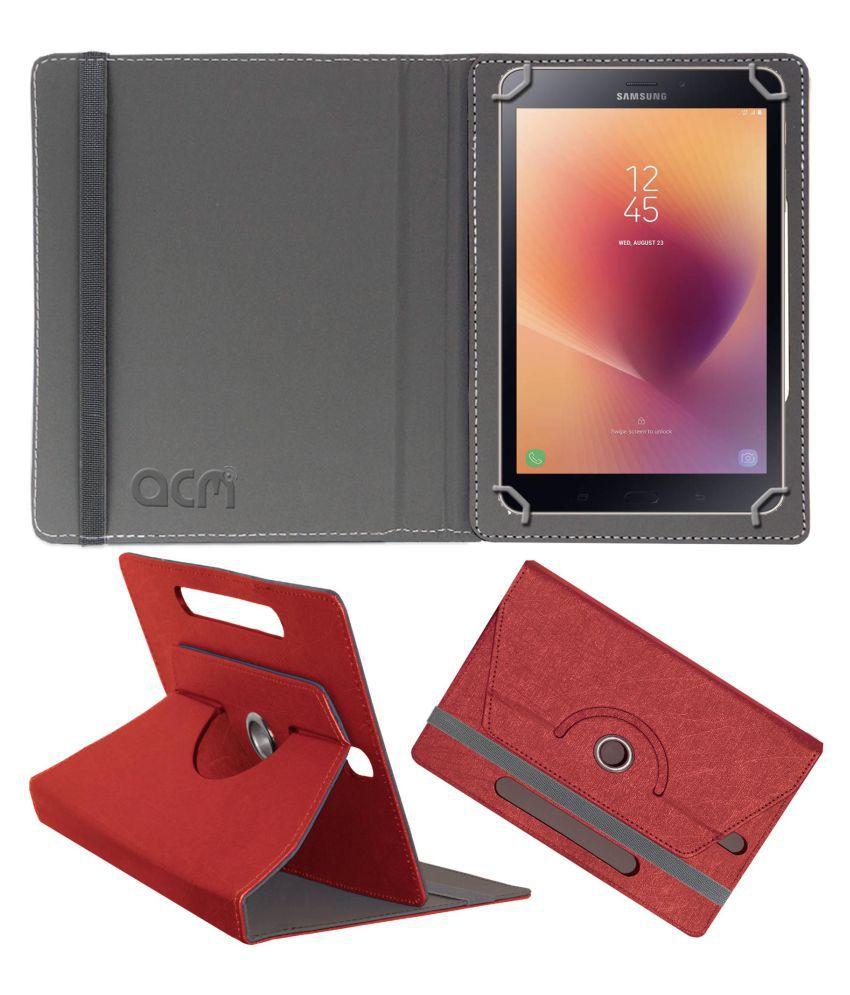 Samsung Galaxy Tab A2 8 Inch Flip Cover By ACM Red
