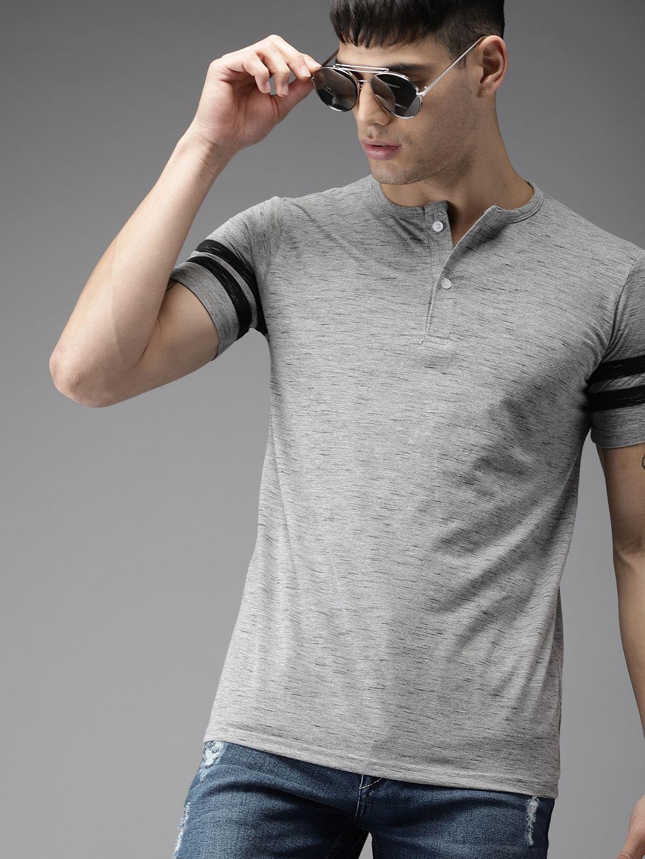 Sayitloud Grey Half Sleeve T-Shirt
