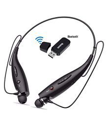 RIVOXX HBS-730 Headset+USB Bluetooth Dongle Neckband Wireless Headphones With Mic