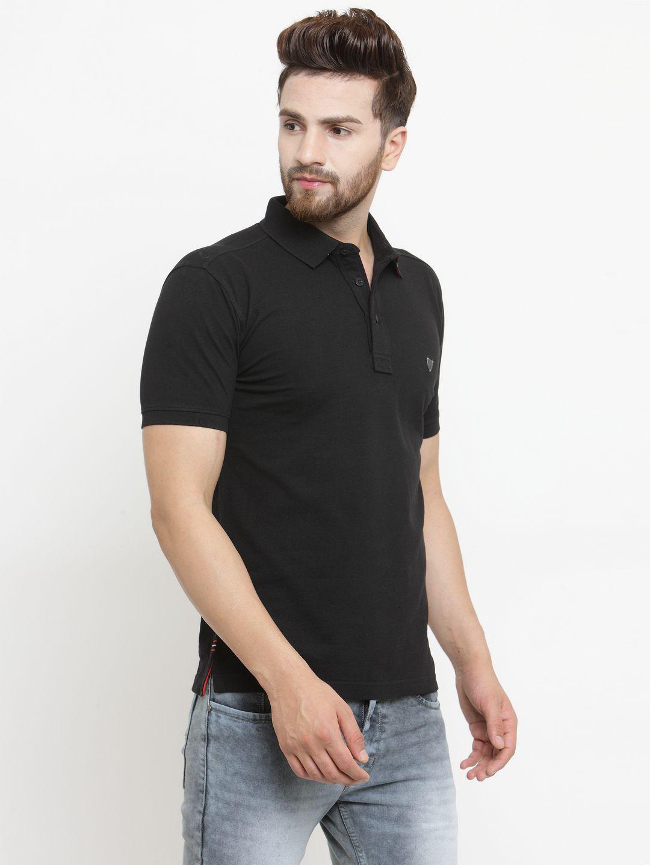 John Players Black Half Sleeve T-Shirt