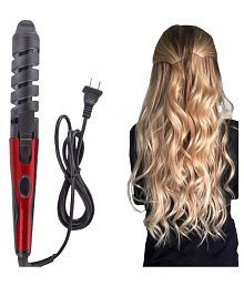 SJ Novaa Hair Curler Curling Iron 45W ( Red & Black ) Product Style